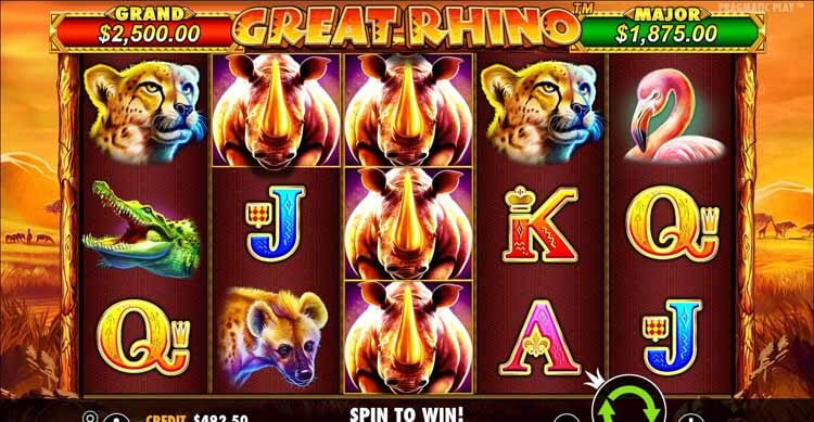 Great Rhino Video Slot