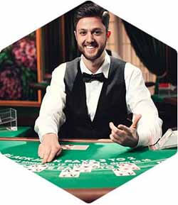 Live dealer blackjack from Evolution Gaming