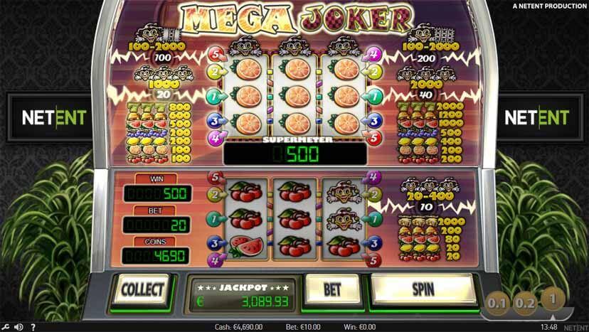 Big win on the Mega Joker slot